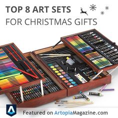 Looking for a gift that will make a difference for someone who likes to draw or paint?  Encourage their talents and imagination with a creative gift. Motivate them with  professional artist approved art sets.  @Amber Parks Turek Magazine