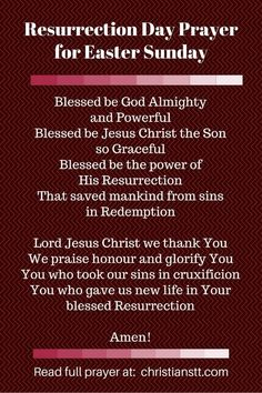 Resurrection Day pin Prayer for Easter Sunday (1)