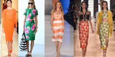 Moda feminina primavera-verão 2016-saia-midi