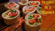 These bite-sized colorful veggie pinwheels make terrific little appetizers or a quick tasty lunch, and they are very kid friendly! Recipe from Dr. Neal Barnard's book, The Cancer Survivor's Guide.
