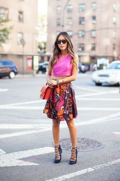 Mcqueen skirt during New York Fashion Week - Song of Style I Love Fashion, Passion For Fashion, High Fashion, Spring Fashion, Fashion Looks, Women's Fashion, Classy Fashion, Street Fashion, Street Style
