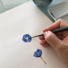 ✨ Rose✨#lapislazuli lazuli #jewelryillustration #jewelryrendering #illustration #jewellery #jewelry #illustration #fashionillustration #ilustration #ilustracao #joia #joias #designdejoias #aquarela #aquarelle #watercolor #rose