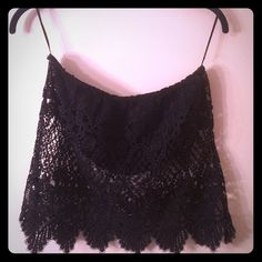 PacSun LA Hearts Bandeau Lace Crop Top Super Cute!!! - Strapless - Only worn a few times - bandeau with lace overlay - smoke free LA Hearts Tops Crop Tops