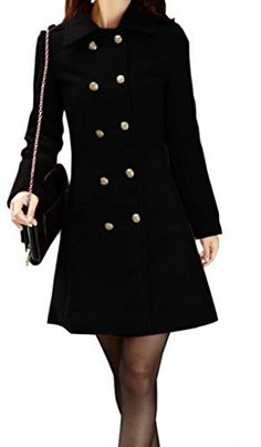 NY Deal Women's Classic Double-Breast… Winter Jackets Women, Coats For Women, Winter Coats On Sale, Double Breasted Trench Coat, Wool Blend, Boutique, Classic, Shopping, Black