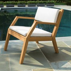 Teak Outdoor Chairs - Hudson Lounge Chair   Country Casual