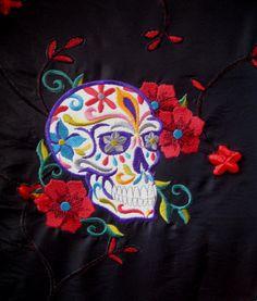 Festive Skull Embroidered