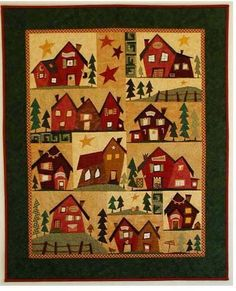 Fun Sulky Village - link and patterns are in German, but paper pieced so easy to follow