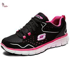 Skechers SynergyA Lister, Sneakers Basses femme, Noir, 35 EU - Chaussures skechers (*Partner-Link)