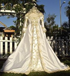 Ever After Fantasy Medieval or Princess Custom Color Fabric Size Gown with Hood Option