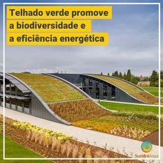 Já falamos por aqui das diversas vantagens dos telhados verdes, sendo que algumas delas são que, o sistema promove a biodiversidade e a eficiência energética nas edificações. Tendo em conta todos esses benefícios, o escritório de arquitetura Scott Brownrigg usou um grande telhado verde curvo como estrela do seu projeto para a nova sede na Inglaterra da organização internacional sem fins lucrativos, CABI. #arquitetura #arquiteturasustentavel #telhadoverde #greenroof #greenarchitecture