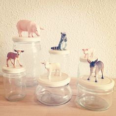 So much of rad going on here: storage and DIY AND plastic animals.