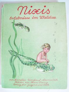 First Edition Vint GERMAN CHILDREN Book, 1946, Antique, Annelies Umlauf-Lamatsch, Hans Lang, Little Mermaid, Adventures, Water, Microscope by AlpineCountryLooks on Etsy Christmas Note, Book Authors, Books, The Little Mermaid, German, Adventure, Antique, Children, Illustration