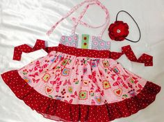 Girl Dress Size 2T; Sweat Ellie Halter; Handmade; Everyday Use; 100% Cotton #Handmade #Everyday