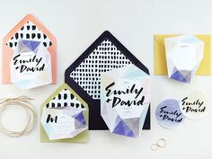 These Geometric Wedding Invites Are Everything Your Modern Dreams Are Made Of…