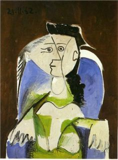 I love the blue and green...Picasso 1962