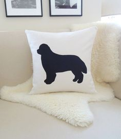 Hey, I found this really awesome Etsy listing at https://www.etsy.com/listing/185214865/newfoundland-dog-pillow-cover-ivory