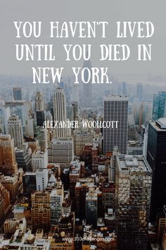 The challenge: read these New York City quotes and check how many of these words said by famous people are true according to your experience:1.  When I'm in New York, I just want to walk down the street and feel this thing, like