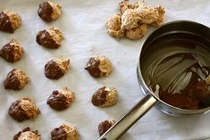 Chocolate-dipped (dark, of course) coconut macaroons are competing to be my favorite cookie.