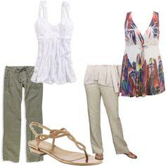 Sleeveless tunics + linen or other lightweight pants+ sandals= fantastic transitional weather uniform