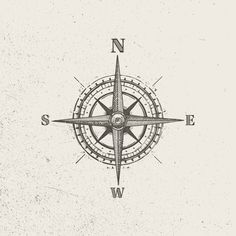 Vector vintage compass, great for designs, marketing or logos & assets. Fully compatible with modern vector design software. Available in . compass tattoo Vector Vintage Compass (Style A) Vintage Compass Tattoo, Nautical Compass Tattoo, Compass Tattoo Design, Geometric Tattoo Design, Tattoo Vintage, Mens Compass Tattoo, Simple Compass Tattoo, Nautical Tattoos, Pirate Compass