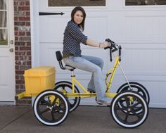 Our GoBoy Rhoades Car quadricycles and bike quadricycle made in USA. bike with cargo space for cargo box or basket! Tricycle Bike, Trike Bicycle, Recumbent Bicycle, Bmx Bikes, Three Wheel Bicycle, Monocycle, Velo Cargo, Quad Bike, Pedal Cars