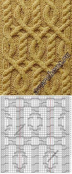 вязание-узоры Zopfmuster zum Stricken mit kostenloser AnleitungHoe u de Digonal-zaaisteek breit. Cable Knitting Patterns, Knitting Stiches, Knitting Charts, Afghan Crochet Patterns, Crochet Chart, Easy Knitting, Knit Patterns, Stitch Patterns, Crochet Stitches