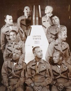 Neil Armstrong (top left) & other new Gemini astronauts mug restlessly during portrait session, 1962 Einstein in a Box (EinsteinInABox1) on Twitter