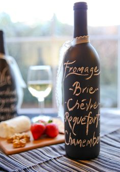 "How to Make a ""Wine Bottle Chalkboard Menu"" 