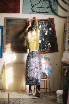 Artist Malin Gabriella Nordin in her studio, 2014. Photo by Erik Wåhlström.