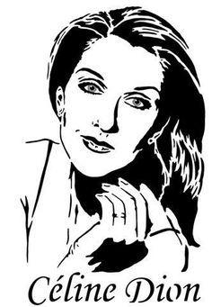 Celine Dion, Stencil Art, Stencils, Silhouette Face, Cool Silhouettes, Record Art, Call Art, Black White Art, Scroll Saw Patterns