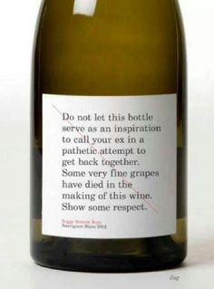 because life is to short to drink cheap wine ;)