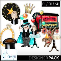 Vol 493 Mix Circus, a digital scrapbooking kit from MyMemories Digital Scrapbooking.