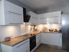 biała kuchnia z połyskiem ikea metod - Szukaj w Google