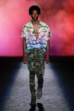 Amiri Spring 2019 Menswear Fashion Show Collection: See the complete Amiri Spring 2019 Menswear collection. Look 10