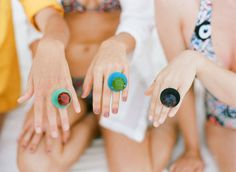 Aw ring pops would be fun for the ladies for the bachelorette party!