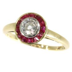 Hey, I found this really awesome Etsy listing at https://www.etsy.com/listing/521409986/vintage-ruby-ring-art-deco-diamond-and