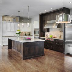 Dark Wood Cabinets Design Ideas, Pictures, Remodel, and Decor - page 4