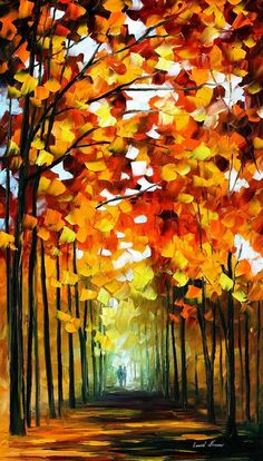 Original Recreation Oil Painting on Canvas  This is the best possible quality of recreation made by Leonid Afremov in person.    Title: Before