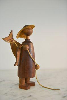 Vintage Arne Tjomsland Teak Fisherman made in by TheModernVault, $295.00