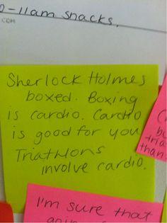 motivational sherlock post-its