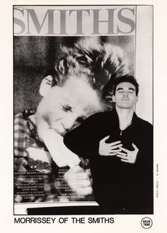 Morrissey of The Smiths: Promotion Rough Trade poster ― photo by Jo Novark.