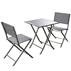 Product Description This Is Our 3 Pieces Table And Chairs Set. It Has One Folding Table With 2 Chairs. It Will Bring New Life To Your Patio Or Deck With
