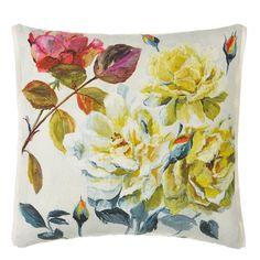 Couture Rose Fuchsia Throw Pillow | Designers Guild
