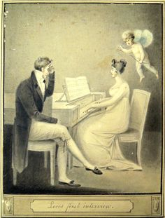Robert Fulton (1765-1815), Love's First Interview, 1806. Watercolor. Firestone Library Graphic Arts Collection GA 2006.02373 Robert Fulton is better known as an inventor of steamboats and submarines- read more at the source!