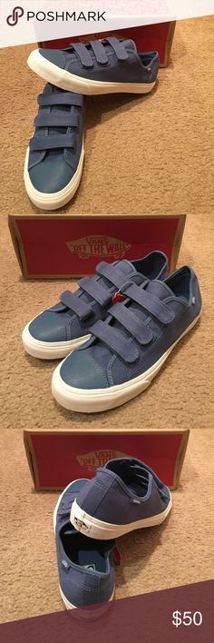 78dab61b205 Prison Issue Twill Vans New in box. Blue Ashes  Blanc de blanc Vans Shoes