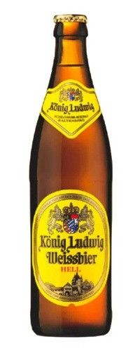 Cerveja König Ludwig Weissbier Hell, estilo German Weizen, produzida por Schlossbrauerei Kaltenberg, Alemanha. 5.5% ABV de álcool.