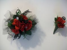 Red Wrist CorsageProm Corsage Homecoming Corsage Wedding Mother of the Bride (29.99 USD) by ForeverRememberToday