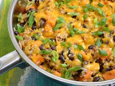 Chorizo Sweet Potato Skillet close up