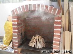 Cuptor de grădină - Capisci Outdoor Fireplace Patio, Outdoor Kitchen Patio, Outdoor Patio Designs, Outdoor Oven, Outdoor Kitchen Design, Barbeque Design, Grill Design, Outdoor Barbeque, Backyard Barbeque