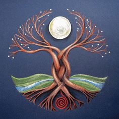 The Moon Tree – Celtic Shaman's Axis Mundi – Dancing Moon Designs Tree Of Life Art, Celtic Tree Of Life, Tree Art, Tree Of Life Painting, Tree Of Life Symbol, New Moon Rituals, Celtic Art, Celtic Dragon, Celtic Designs